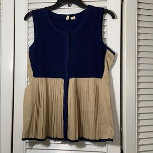 Moth pleated tank top small